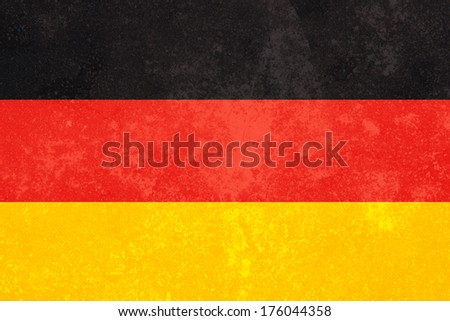 Germany Flag with grunge background