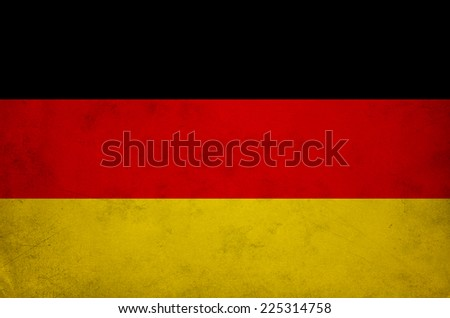 Germany flag with old texture grunge and vintage - stock photo