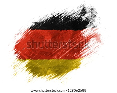 Germany. German flag  painted with brush on white background - stock photo