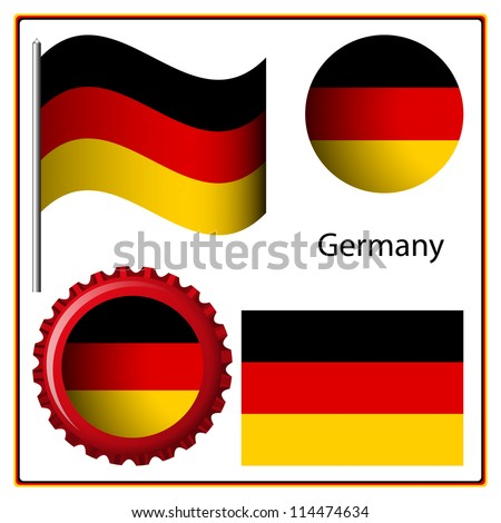 germany graphic set against white background, art illustration; image contains transparency