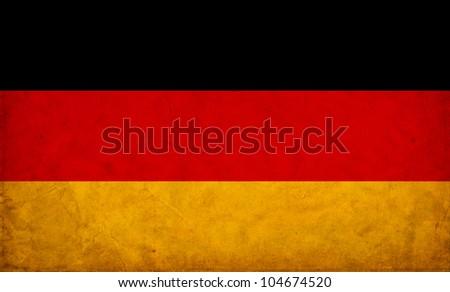 Germany grunge flag - stock photo