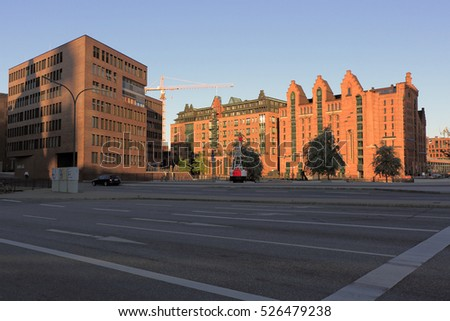 Germany, Hamburg - June 10, 2015. View of the HafenCity in Hamburg.