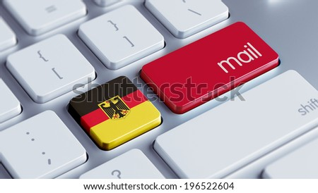 Germany High Resolution Mail Concept - stock photo