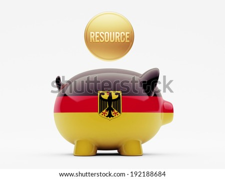 Germany High Resolution Resource Concept - stock photo