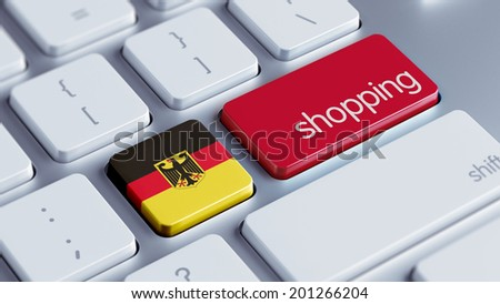 Germany High Resolution Shopping Concept - stock photo