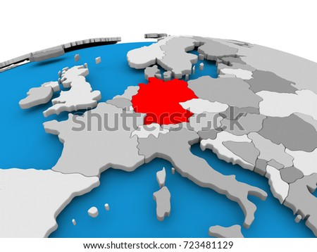 Germany highlighted red on political globe stock illustration germany highlighted in red on political globe 3d illustration gumiabroncs Choice Image