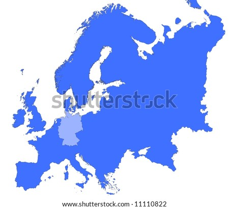germany location in europe map mercator projection