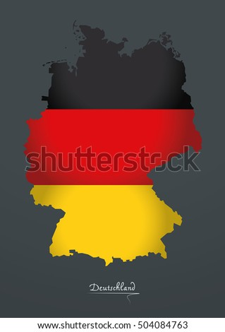 Germany map special artwork style with flag illustration