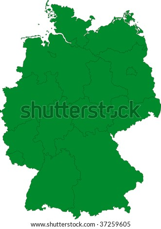 Germany map with regions