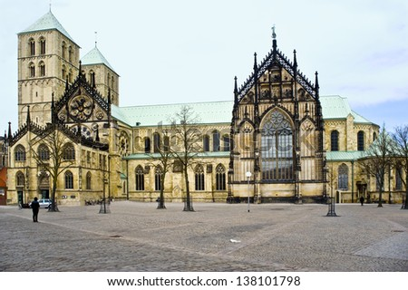 Germany, Munster cathedral of Sacred Pavel (13 eyelids). - stock photo