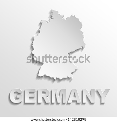 germany poster - stock photo