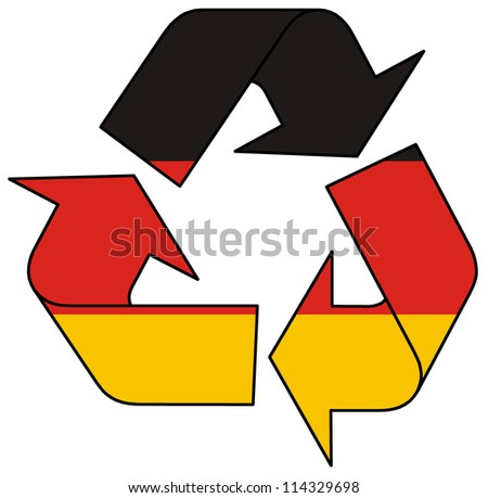 Germany recycle logo - stock photo