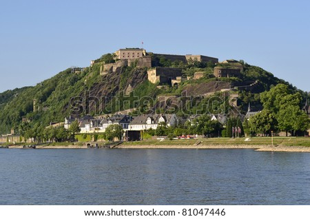 Germany, Rhine Valley, Unesco World Heritage, Castle Ehrenbreitstein in Koblenz