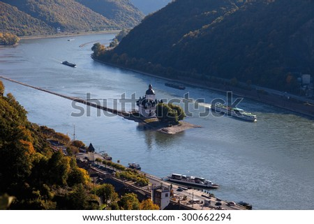 Germany,Rhineland-Palatinate,VIew of pfalz castle