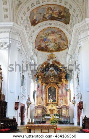 Germany, Rot an der Rot, 2016/07/17, St. Verena Church in Wuerttemberg