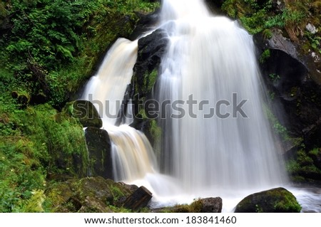 Germany's largest waterfall in Triberg - stock photo