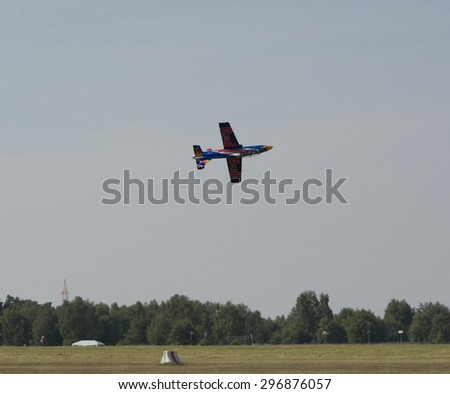 Germany - Schleswig Holstein, July 4, 2015: Wings & Wheels open day with Red Bull Air Show, Remote Jets - Uetersen / Holm Airport 2015