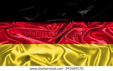 Germany silk flag - stock photo