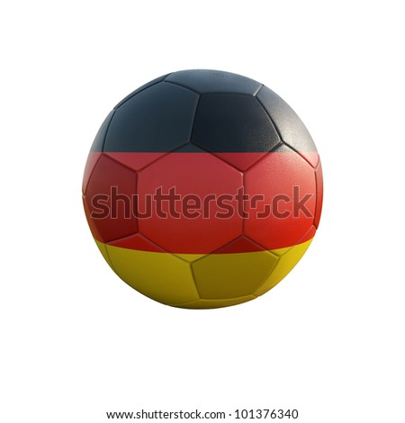 germany soccer ball isolated on white - stock photo