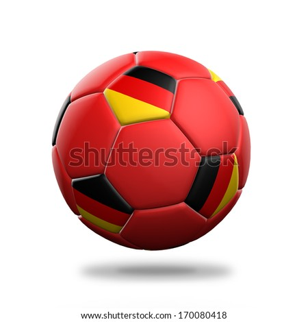 Germany soccer ball isolated white background - stock photo