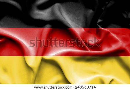 Germany waving flag - stock photo