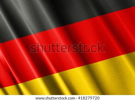 Germany waving flag close - stock photo
