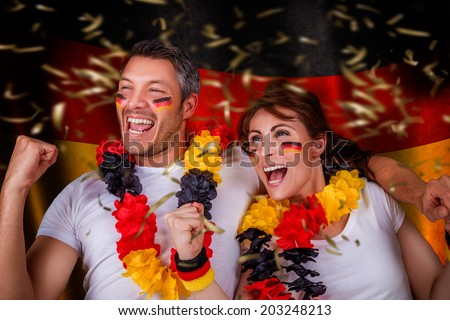 germany winner couple smiling happy