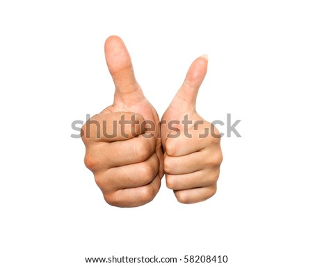 Gesture by a hand expressing good luck, success - stock photo