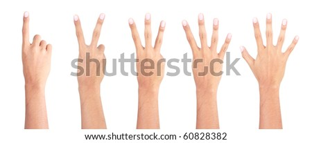 gesture of hand count
