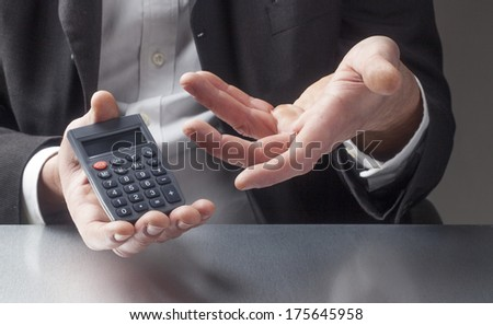 gestures for saving money - stock photo