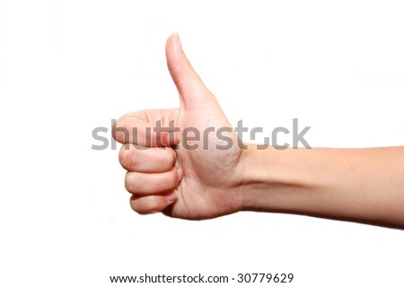 Gesturing hands isolated on white background
