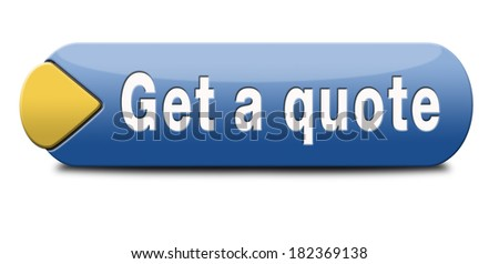 get a quote button or icon - stock photo