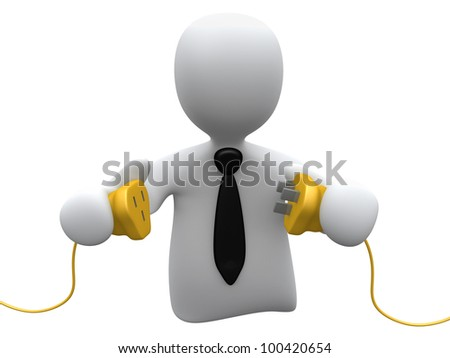 Get Connected - stock photo