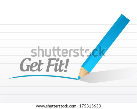 get fit message