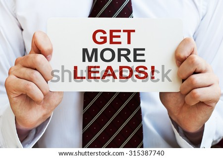 Get more leads! card - stock photo
