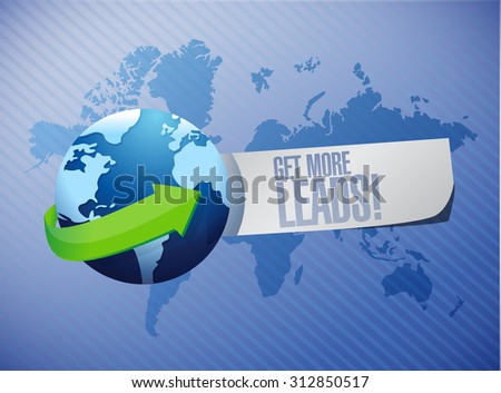 Get More Leads international sign illustration design graphic