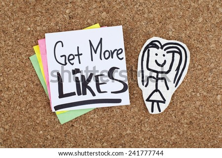 Get More Likes - stock photo