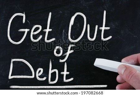 get out of debt - stock photo