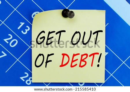 Get Out Of Debt Concept - stock photo