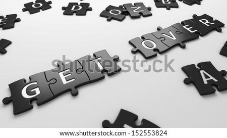 get over - stock photo