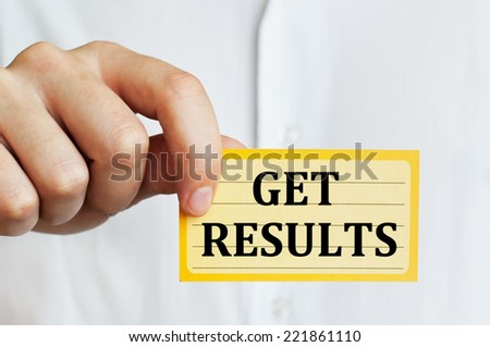 Get results - stock photo
