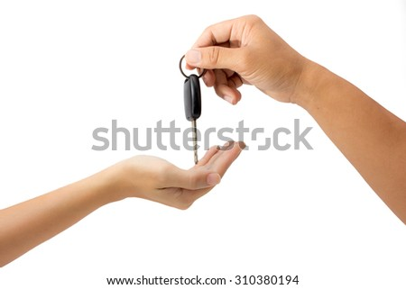 getting car key isolated