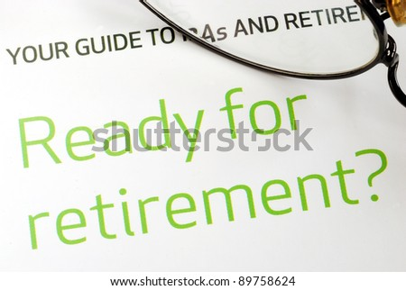 Getting ready for retirement concept of financial planning - stock photo
