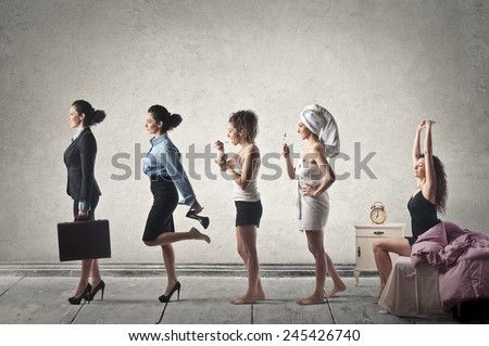 Getting ready to go out  - stock photo
