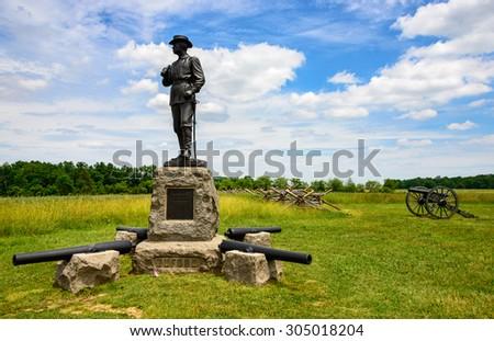 Gettysburg Battlefield  - stock photo