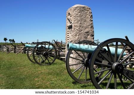 Gettysburg Battlefield National Military Park - Pennsylvania - stock photo