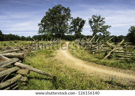 Gettysburg Road - stock photo