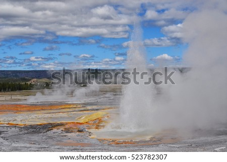 Geysers of Yellowstone National Park, Wyoming
