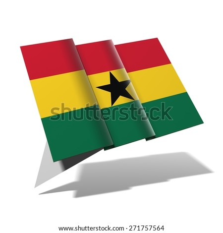 Ghana flag 3D banner - stock photo