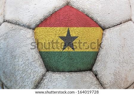 ghana flag soccer - stock photo